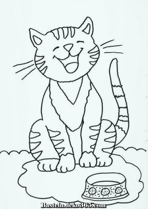 ausmalbilder katzen für jedes kinder  kindermalvorlage