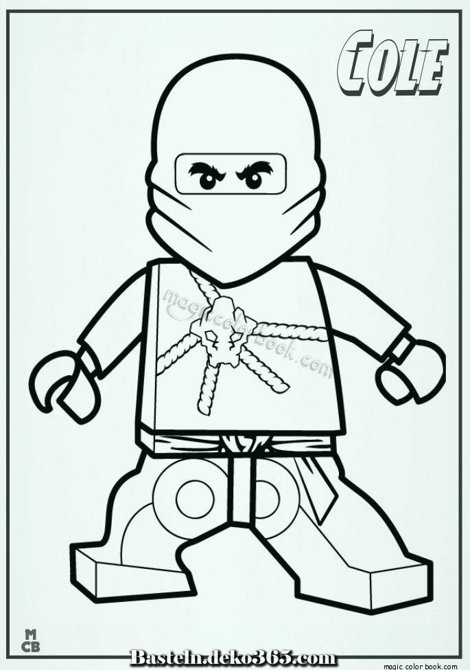 ausmalbilder ninjago lego cole 01  basteln mit kids