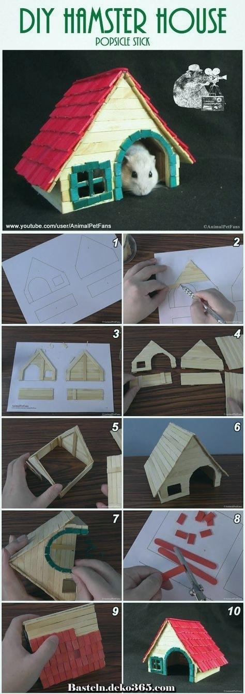 diy popsicle stick hamster house  wie man ein stick house