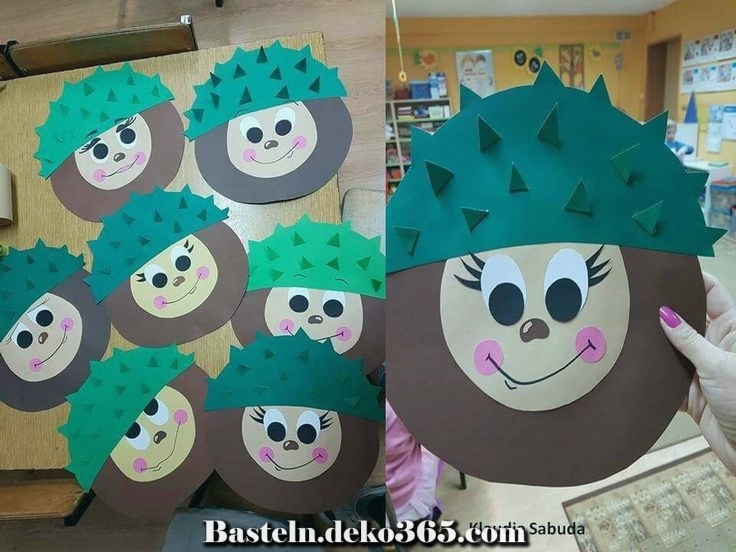 einfache bastelidee  herbst friemeln im kindergarten