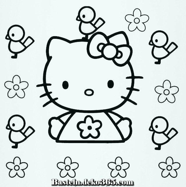 hello kitty malvorlagen zu händen kinder  basteln mit kids