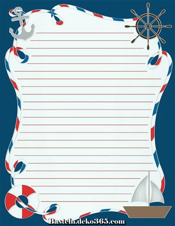 kostenloses druckfähiges nautisches briefpapier im jpg