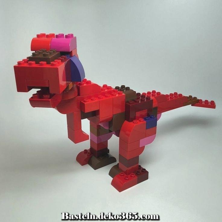 lego duplo t rex  basteln mit kids