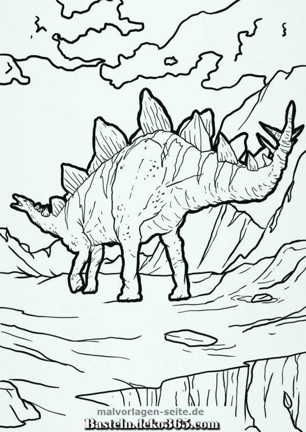malvorlage stegosaurus  basteln mit kids