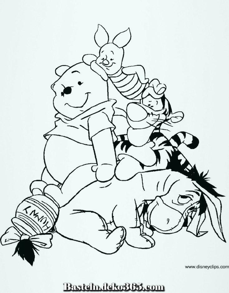 winnie the pooh und seine freunde färben 4  disney