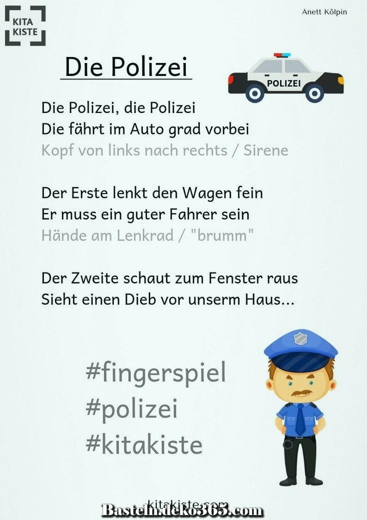 die polizei  ein aufregendes fingerspiel zum schreiben